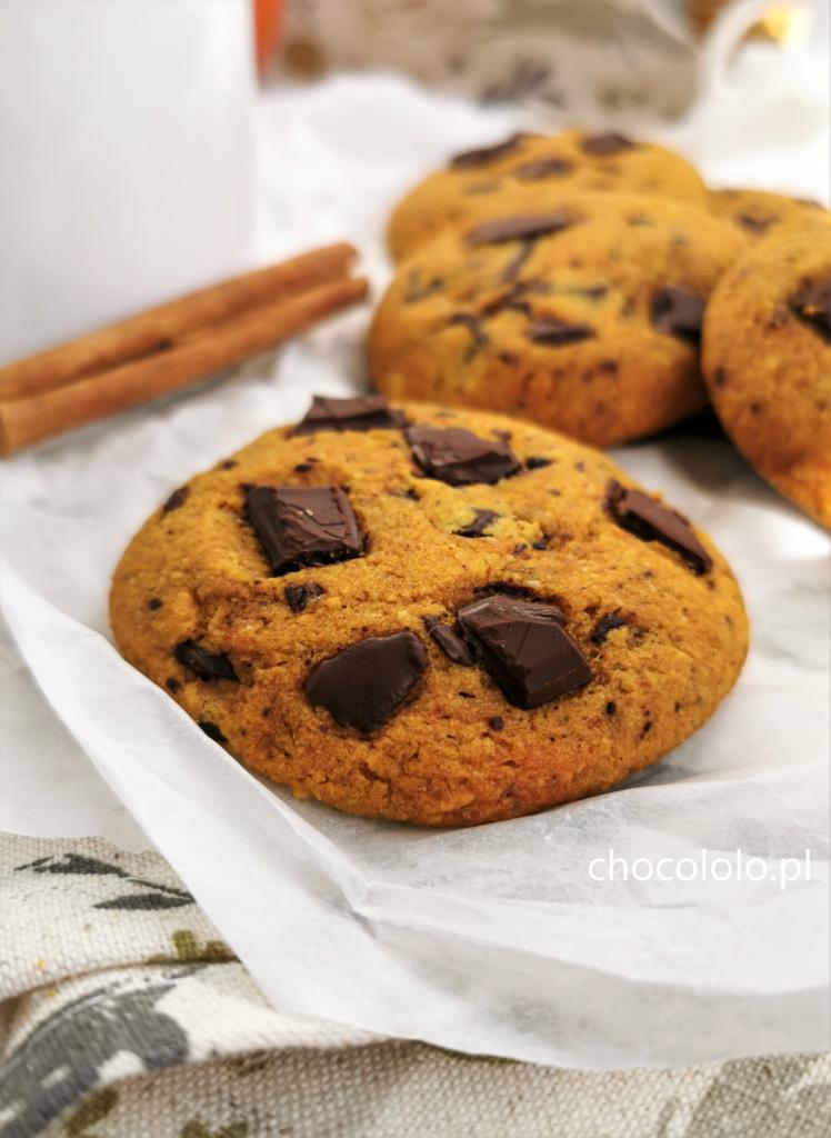 bezglutenowe ciasteczka dyniowe z czekolada 1