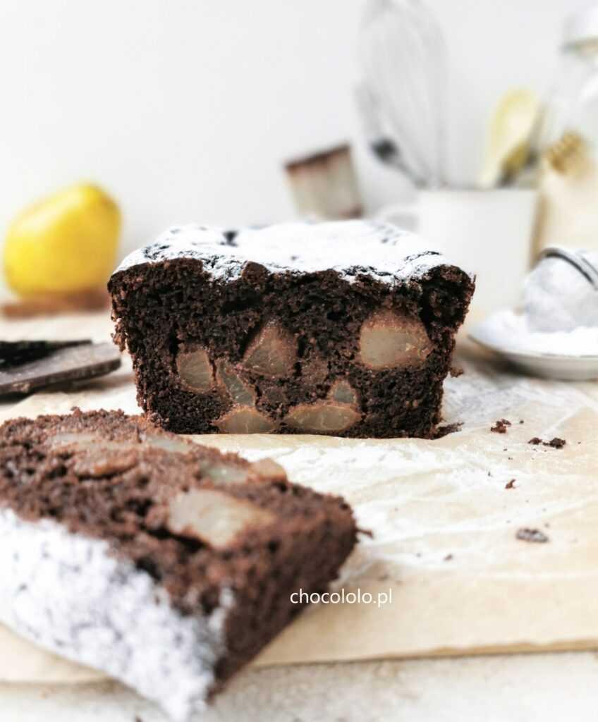 bezglutenowe ciasto czekoladowe z gruszkami 1aa