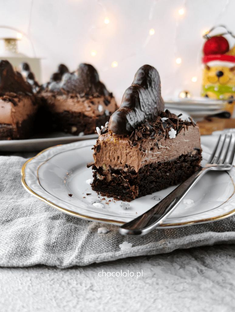 torcik brownie z kremem piernikowym