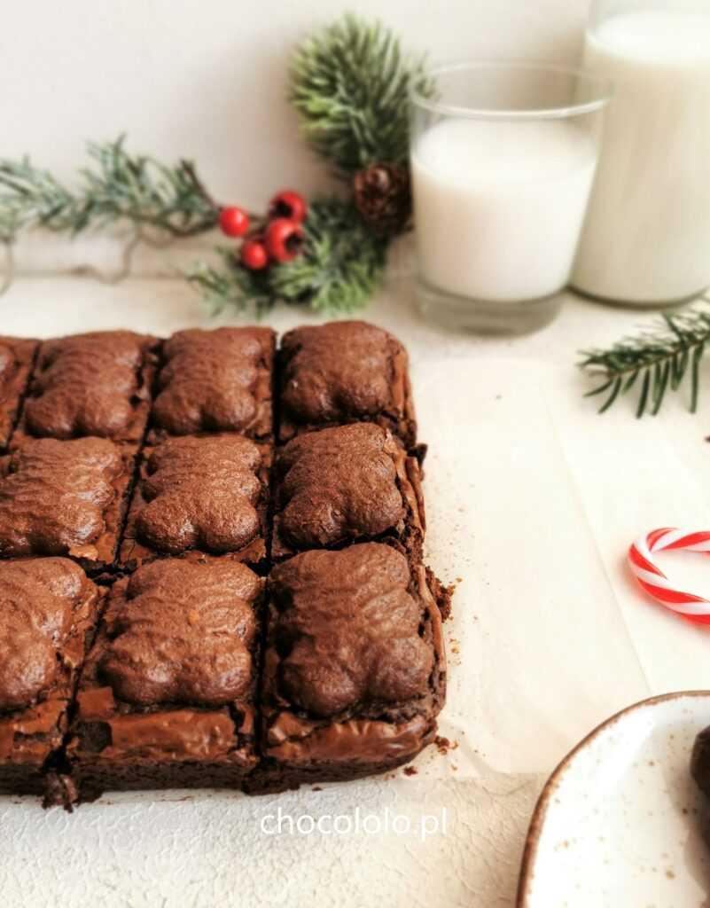 korzenne brownie z pierniczkami 1