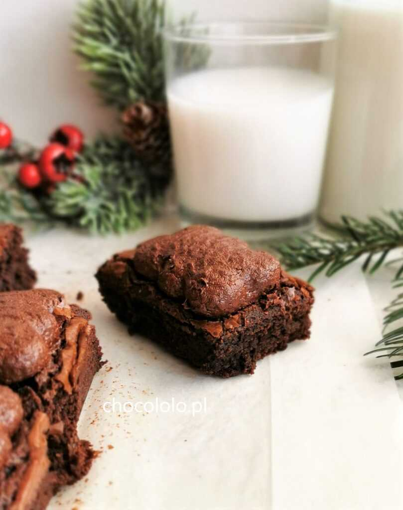 korzenne brownie z pierniczkami 1a