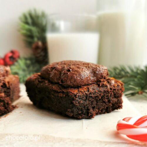 korzenne brownie z pierniczkami a
