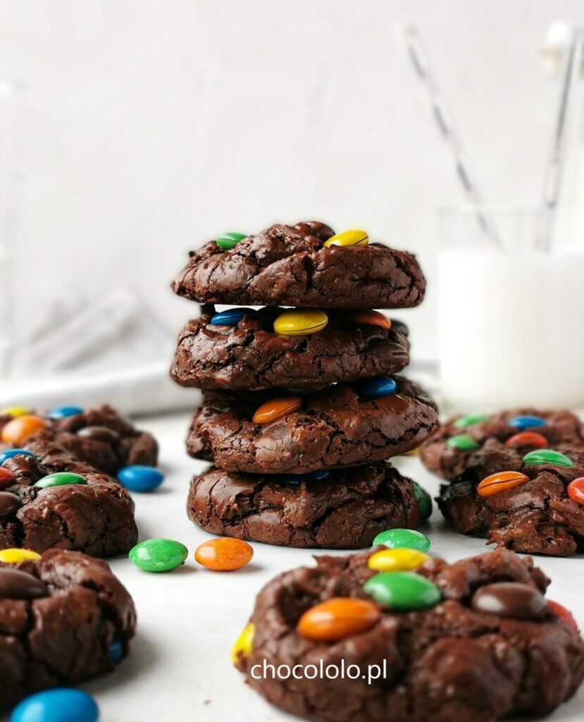 ciasteczka brownie z m&m's 1a