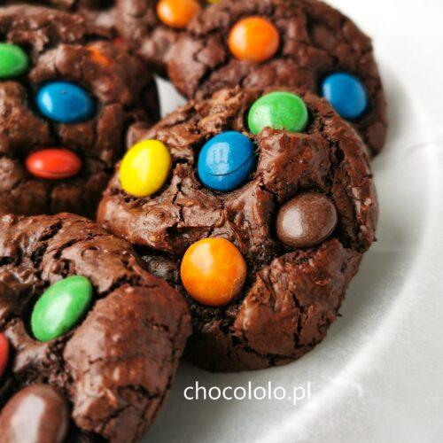ciasteczka brownie z m&m's a