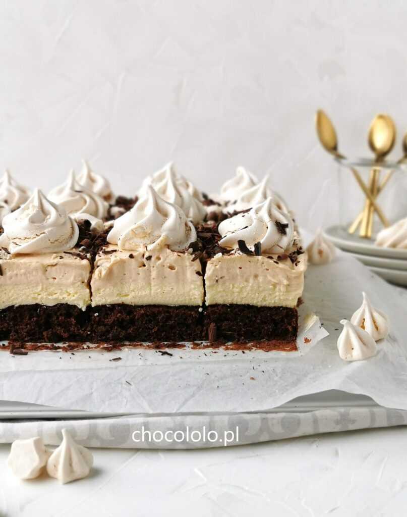 czekoladowe ciasto toffi z bezami