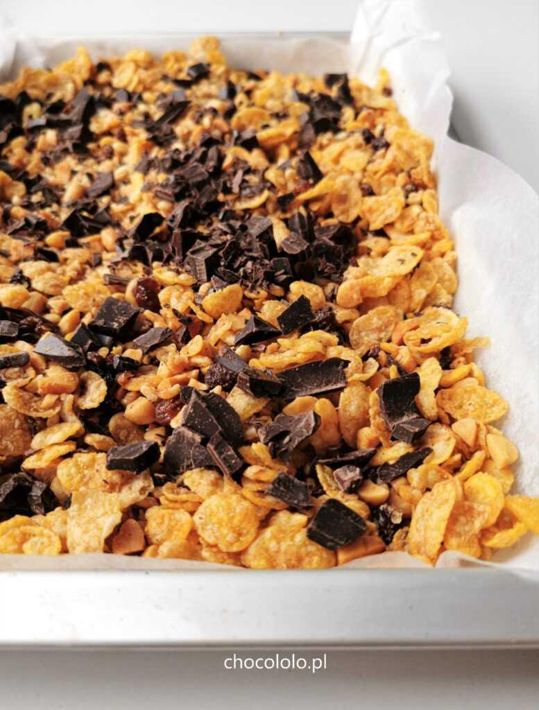 chrupiąca granola z czekoladą