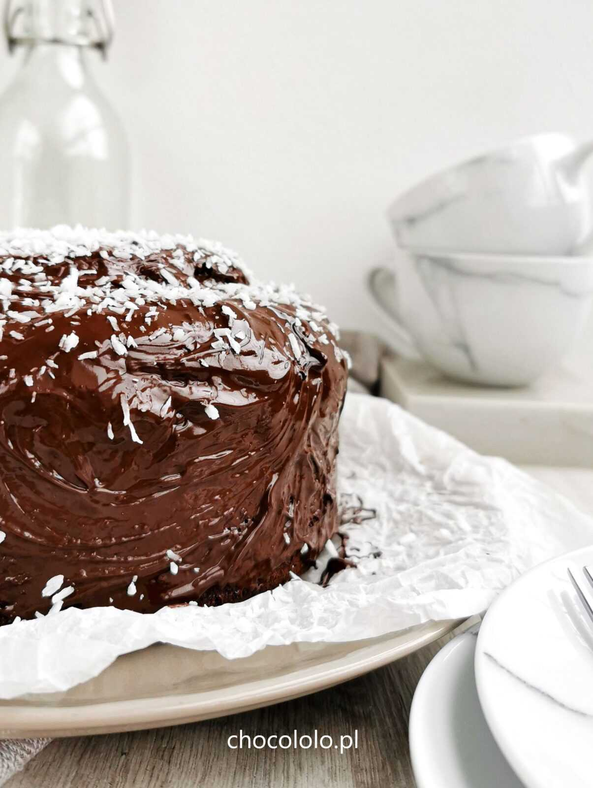 mocno czekoladowe ciasto bananowe 1
