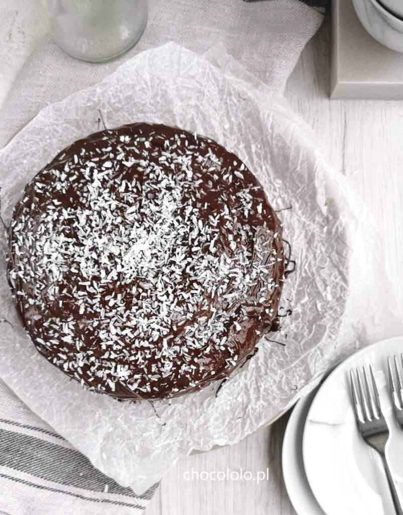 mocno czekoladowe ciasto bananowe