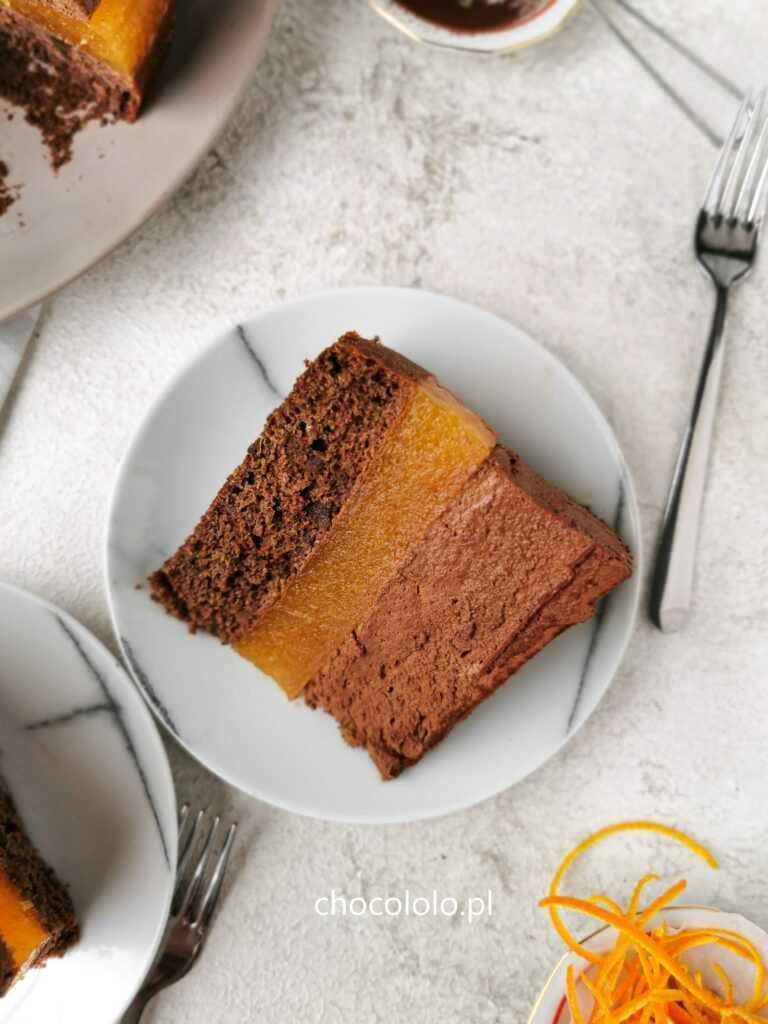 podwójnie czekoladowe ciasto delicja a