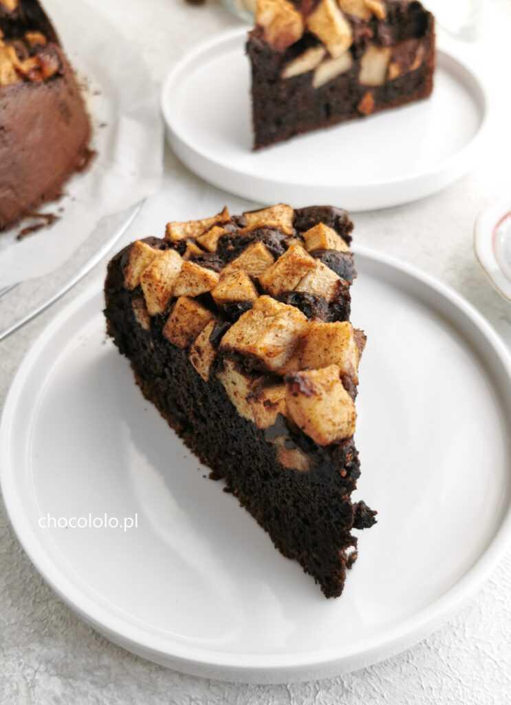 ciasto czekoladowe z jabłkami 4
