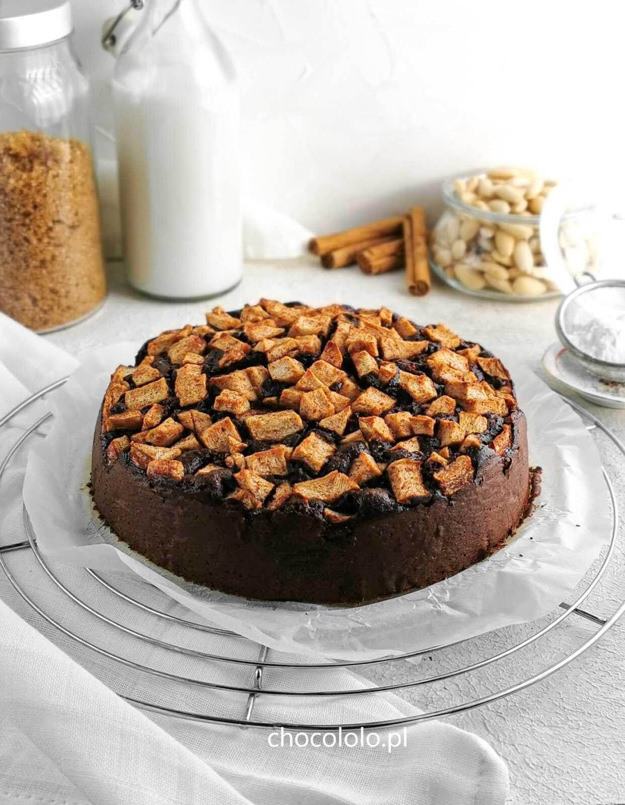 ciasto czekoladowe z jabłkami 5