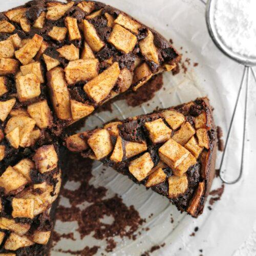 ciasto czekoladowe z jabłkami
