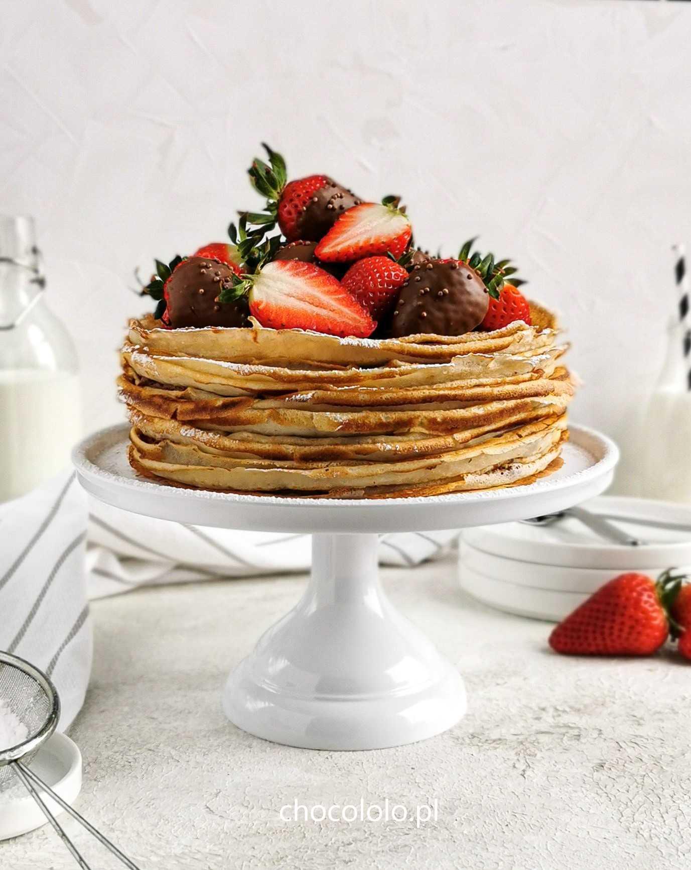tort naleśnikowy z czekoladowym twarożkiem 1
