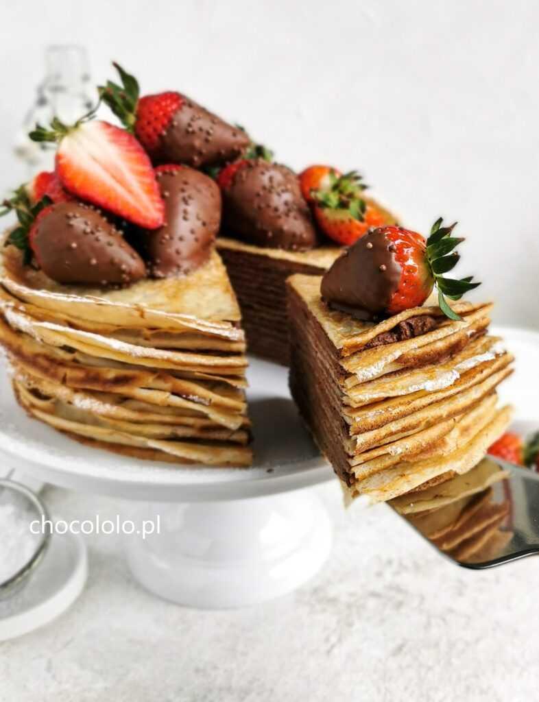 tort naleśnikowy z czekoladowym twarożkiem 2