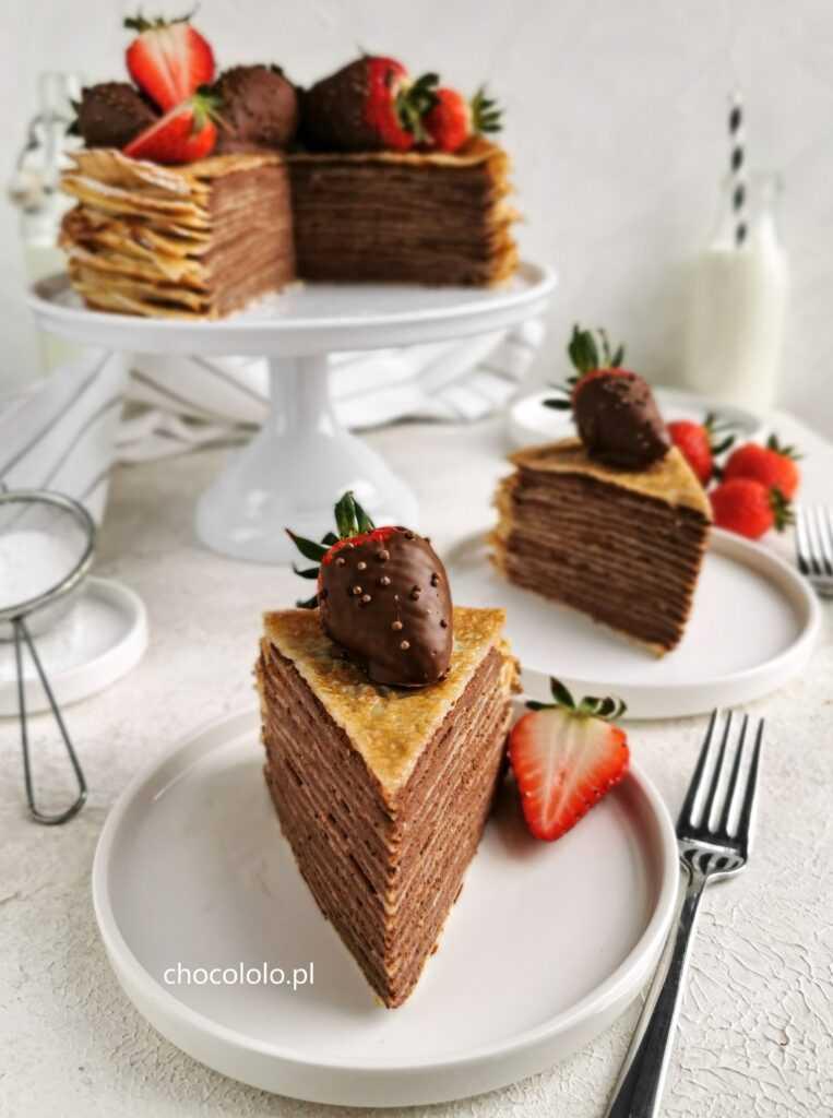 tort naleśnikowy z czekoladowym twarożkiem 4