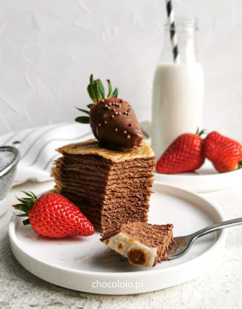 tort naleśnikowy z czekoladowym twarożkiem 5
