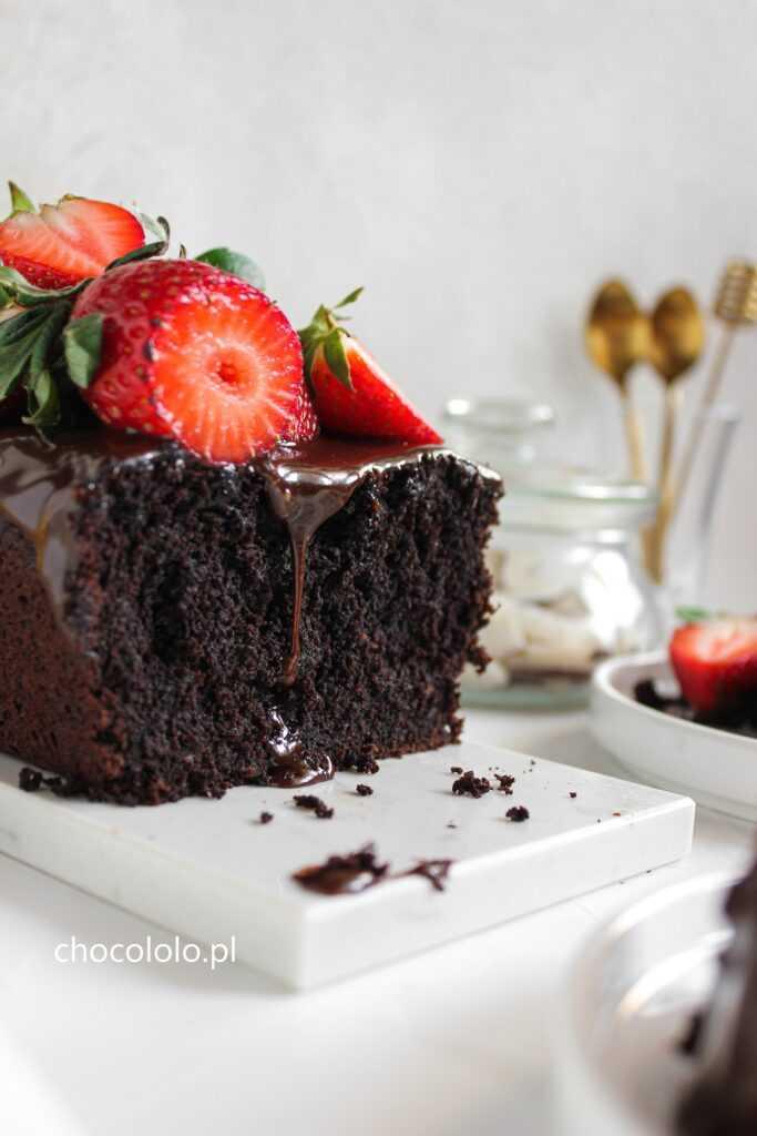 wegańskie ciasto czekoladowe 1
