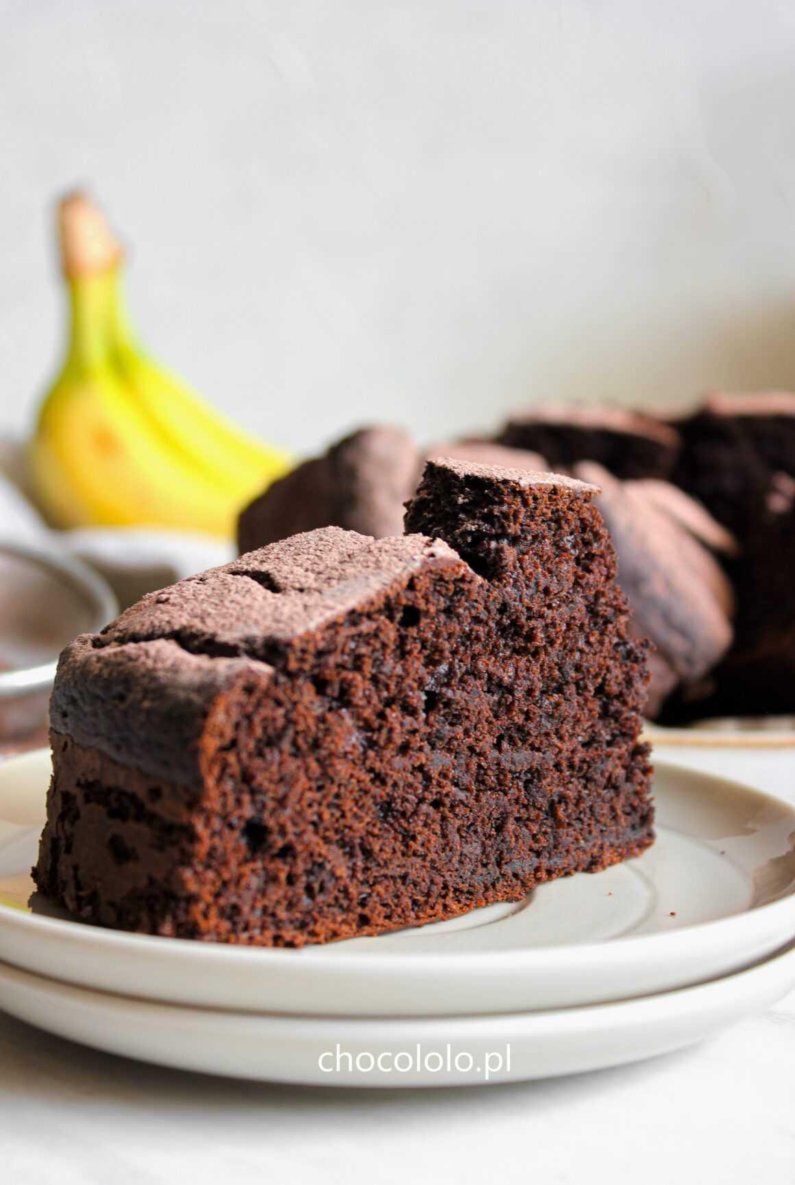 bananowe ciasto czekoladowe (orkiszowe)