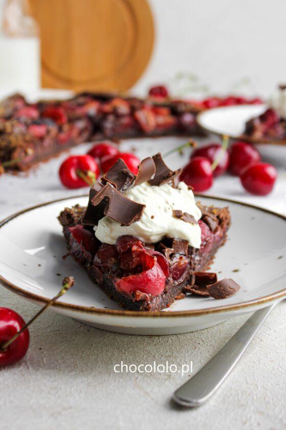 czekoladowe galette z czeresniami